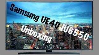 Samsung UE40JU6550(U) Unboxing [4K/Deutsch] - Curved UHD TV -