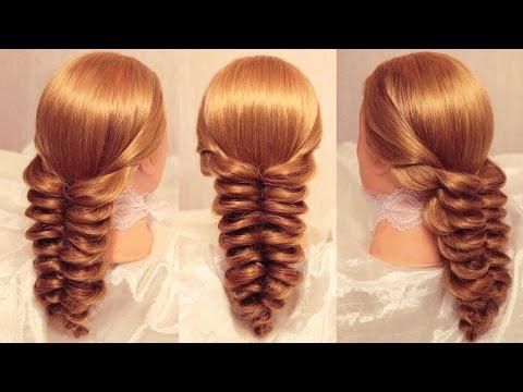 Коса на резинках  Объёмный колосок- Причёски РЕМ