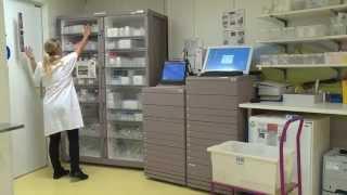 Pharmacie des HUG: armoire automatisée