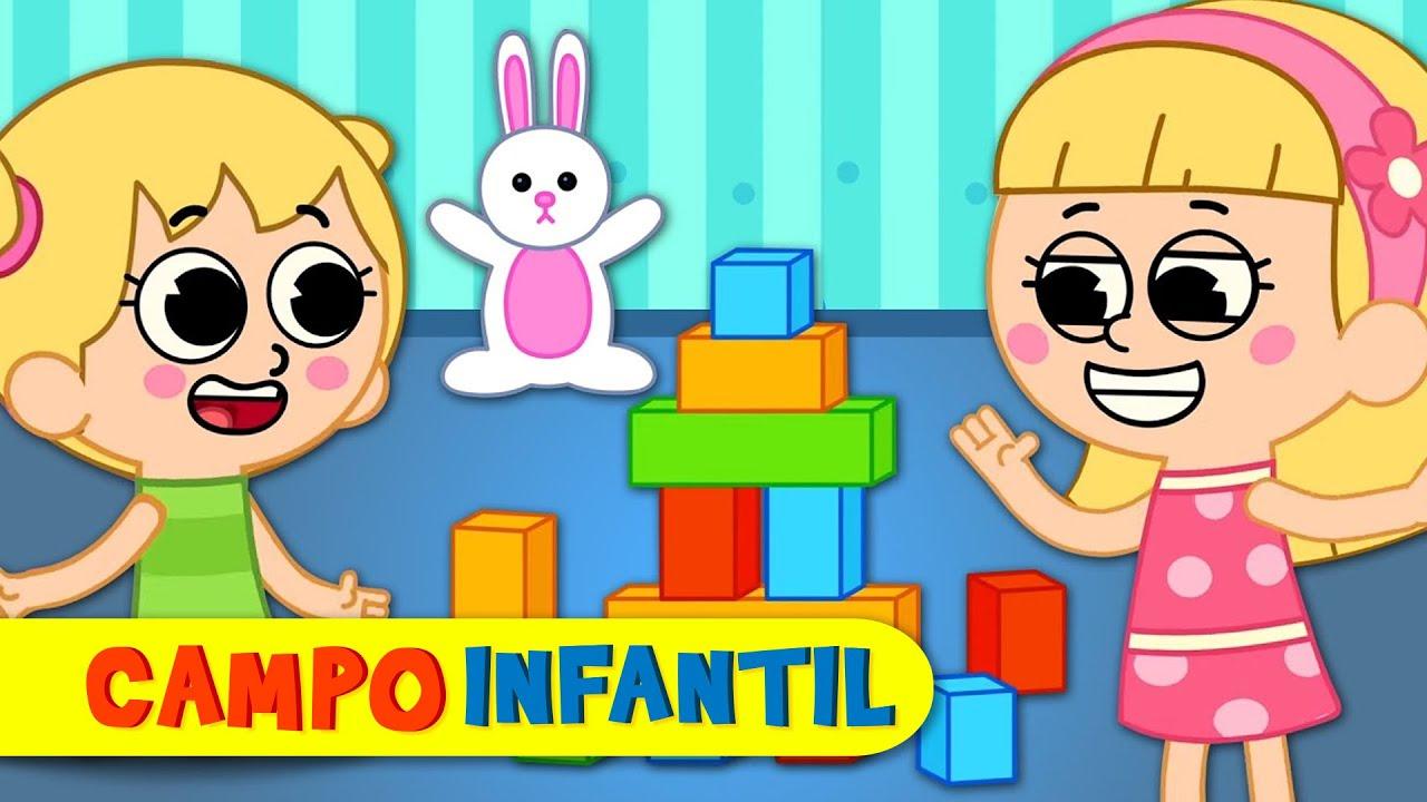 Jugar en casa - Canciones infantiles divertidas con Elly y Eva | Campo Infantil