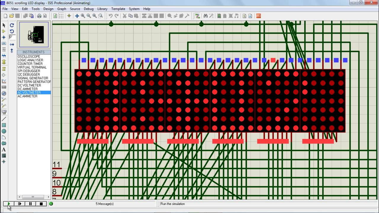 How To Make Scrolling LED Display Using 8051