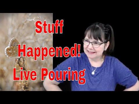 Secret Stream | Live Pouring Fluid Art | Behind the Scenes