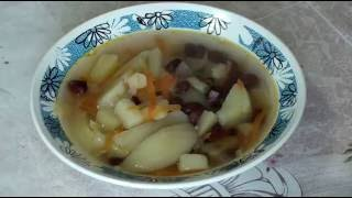 Фасолевый суп. Вкусный суп из консервированной фасоли.
