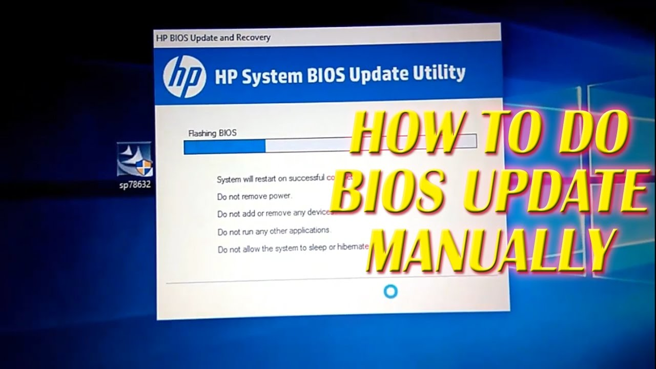 HOW TO DO BIOS UPDATE