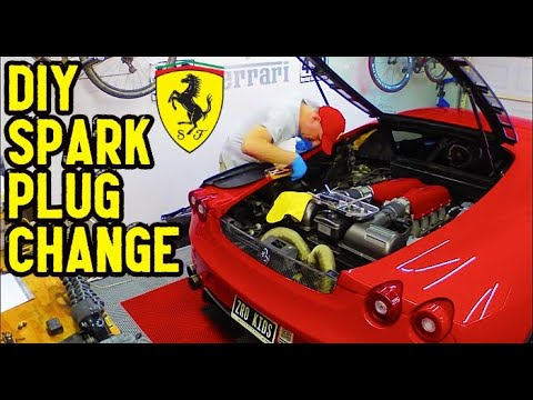 How to change the spark plugs on a Ferrari F430