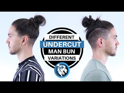 Different Undercut Man Bun Style Variations Mens Long Hair Youtube