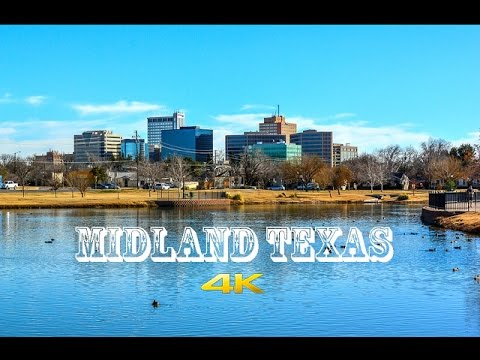 Midland Texas Drive Lapse with Oilfield Museum 4k
