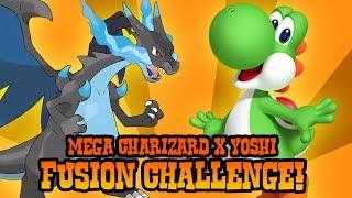 How to Draw Mega Charizard X Yoshi | ART CHALLENGE