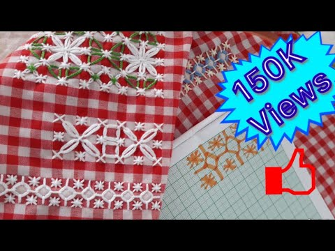 How to do chicken scratch embroidery | Gingham embroidery tutorial | a bit of styling