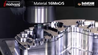 iMachining 3D - Brillen Modell fräsen - 16MnCr5