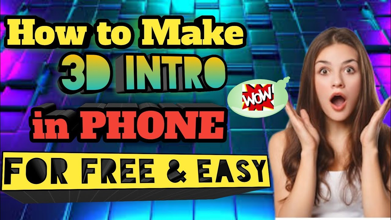 How to make 3D Intro in Panzoid | Using Phone