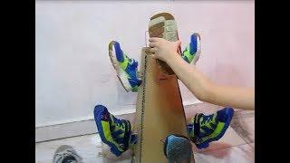 Cara Membuat Rak Sepatu Plus Dari Kardus & gantungan baju - Shoes Rak EASY DIY