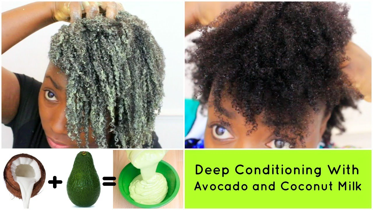 Deep Conditioning Natural Hair 4c Avocado And Coconut Milk