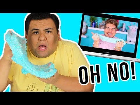 I TRIED FOLLOWING A JOEY GRACEFFA SLIME DIY!!! 💦🤦🏻‍♂️