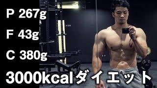 【3000kcal】筋力と筋量を落とさず減量するための食事【マクロ】 thumbnail