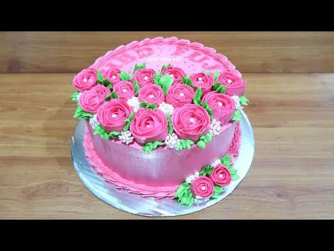 How to Birthday Cake Decorating Roses Flowers Simple