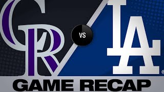 Verdugo's walk-off HR gives Dodgers 5-4 win | Rockies-Dodgers Game Highlights 6/22/19