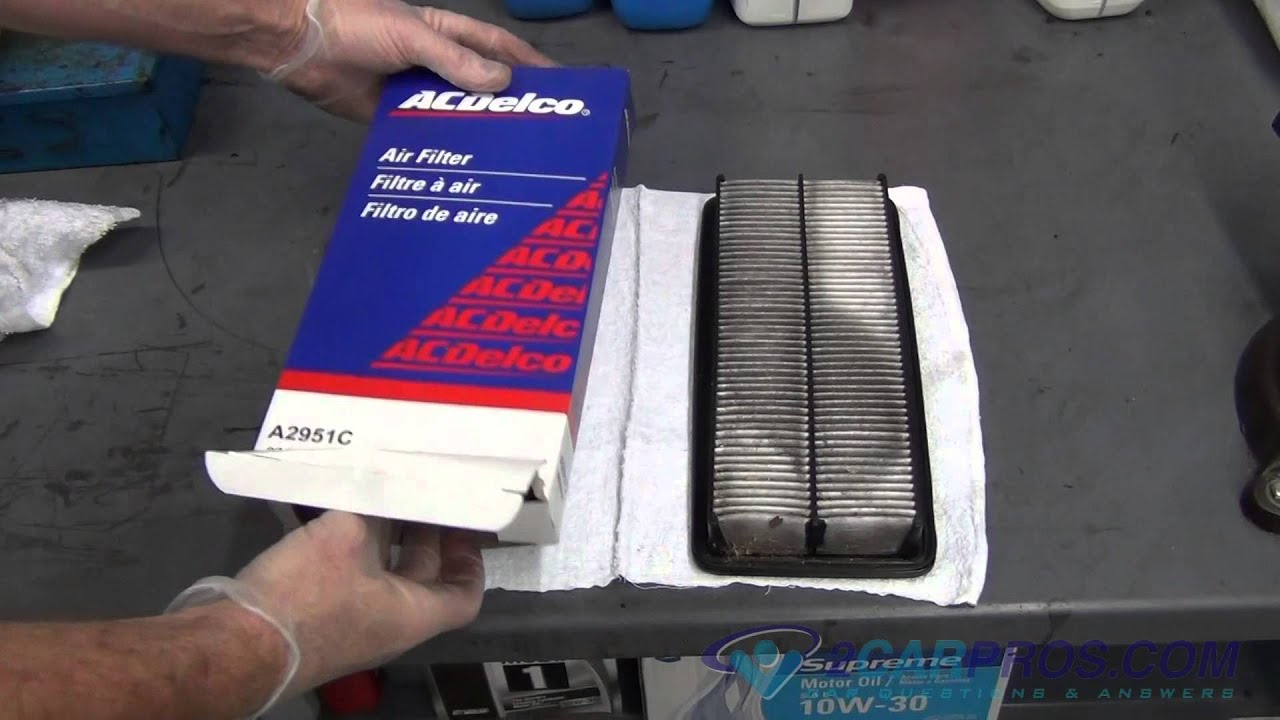 air filter replacement acura tl 2004 2008 youtube