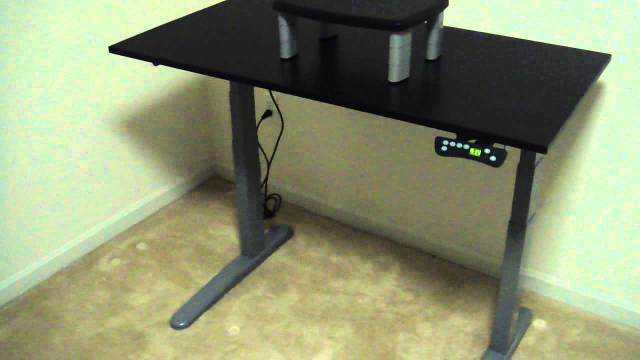 Height Adjustable Computer Desk Youtube