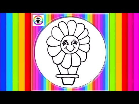 kids-drawing-coloring-pages-flower-hot-air-balloon-lion-big-cat-house-how-to-draw-rainbow-cats-art