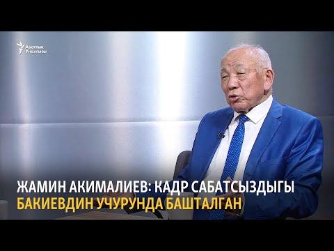 Жамин Акималиев: Кадр сабатсыздыгы Бакиевдин учурунда башталган