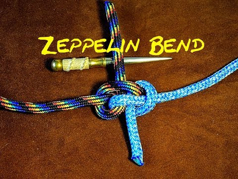 Zeppelin Bend Knot - Securely Joining Two Ropes - Arborist/Rock Climbing Knot - How to Tie