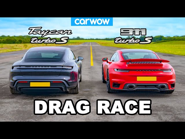New Porsche 911 Turbo S vs Taycan Turbo S: DRAG RACE! - carwow