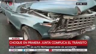 Chocaron una camioneta y un auto en Caballito a metros de la estación Primera Junta