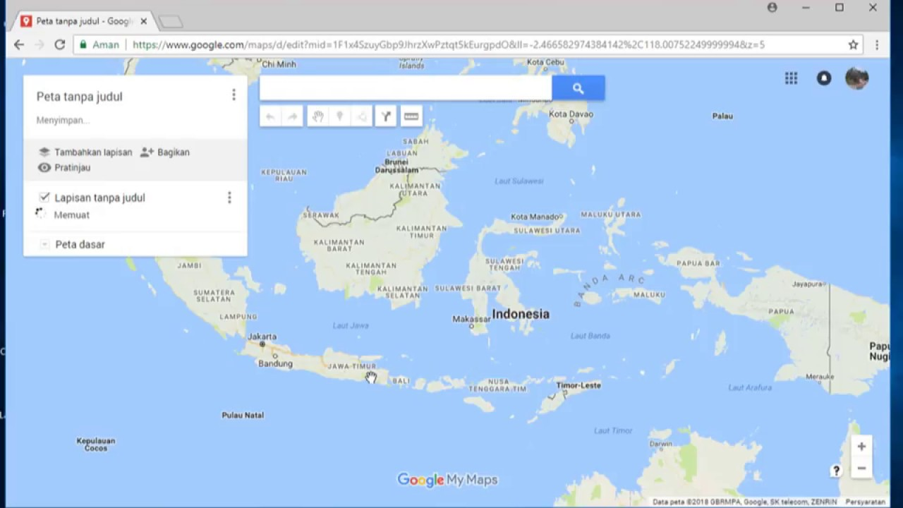 cara memasukan koordinat dari excel ke google map