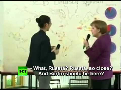Video: Merkel moves Berlin to Russia