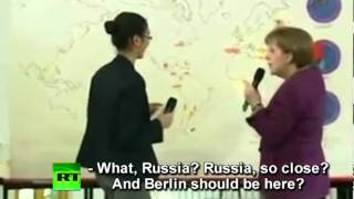 Video: Merkel moves Berlin to Russia