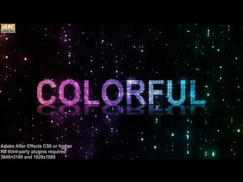 Glitter Lights Logo Title - After Effects template from Videohive