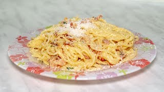 Паста карбонара, рецепт спагетти в домашних условиях быстро на ужин или на обед
