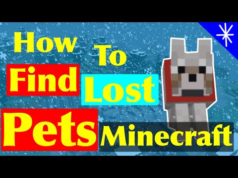How To Find Your Lost Pets / Animals On Minecraft!!!