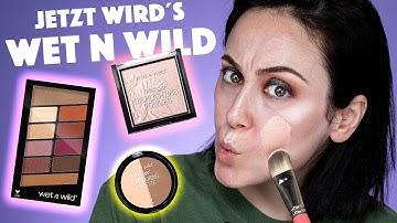 HOLY MOLY 😂  ich teste Wet N Wild Produkte 💦🐅 Full Face using only WET N WILD   Hatice Schmidt