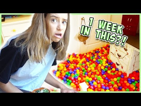 I LIVED IN A BALL PIT FOR A WEEK!!