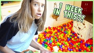 i lived in a ball pit for a week
