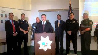May 7, 2014 Merced County press conference regarding drug arrests