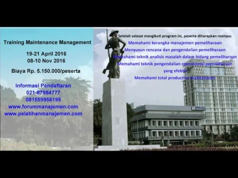 021 87984777 Pelatihan manajemen pemeliharaan   maintenance management training PPM jakarta