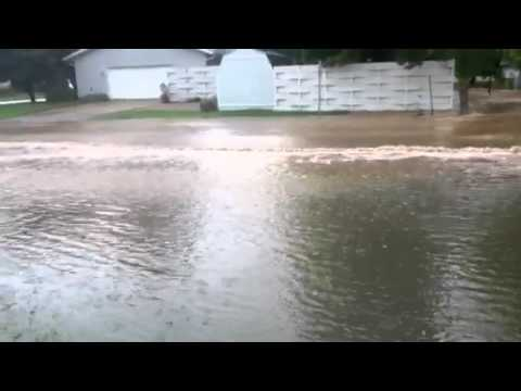 Flooding in Vandalia, Illinois