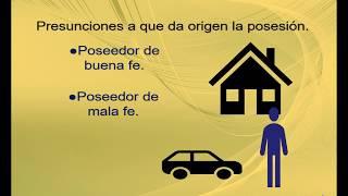 Presunciones de la posesión y requisitos que debe cumplir la posesión para poder prescribir.