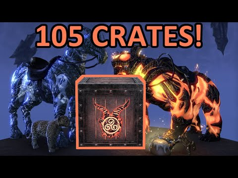 Opening 100+ ESO Flame Atronach Crown Crates! 🔥