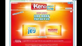 Methode pour gagner au keno, avec les numéros pris sur www.pronosti...