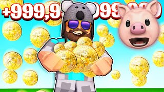 I PAID TO WIN AND BROKE THE GAME.. | Roblox Bitcoin Miner