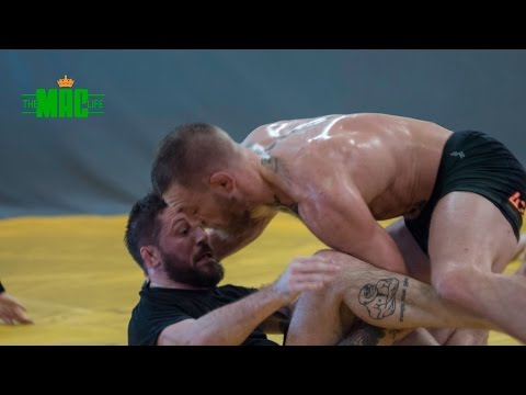 Conor McGregor grappling with Coach Kavanagh and team before UFC 205: The Mac Life Series 2