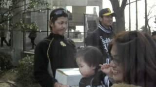 試合後に東北関東大震災関連の募金活動がありました.