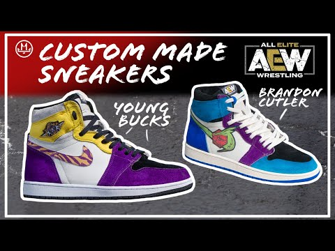 AEW Custom Wrestling Sneakers | All Elite Wrestling Handmade Shoes | Shoemaking