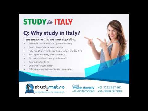 Study Abroad  | Study in Italy- Free Educations Through Study Metro- http://studymetro.com