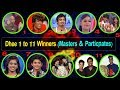 Dhee 1 to 11 Title winners list and Dance Masters List