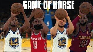 LeBron vs Curry vs Durant vs Harden Game Of Horse!   NBA 2K18 Challenge  